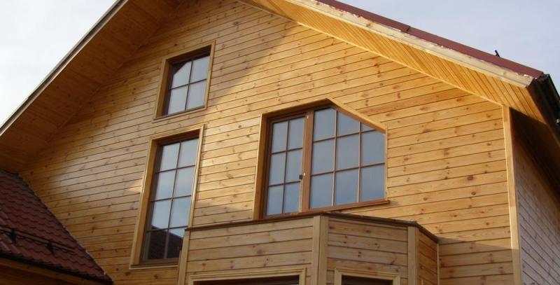 Имитация бруса для обшивки фасада загородного дома