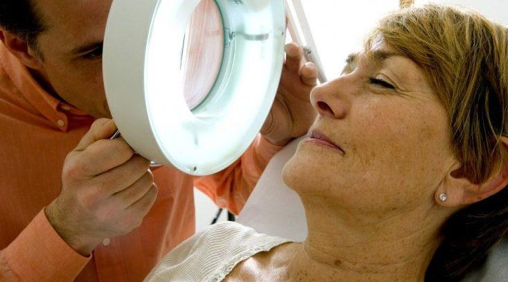 Рак кожи: часто встречающиеся злокачественные опухоли лица