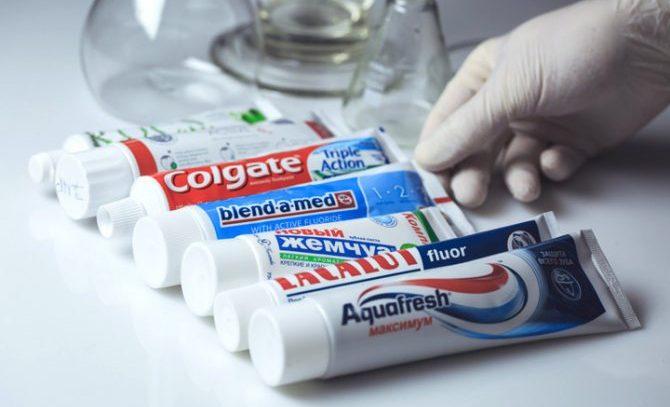 Виды зубной пасты